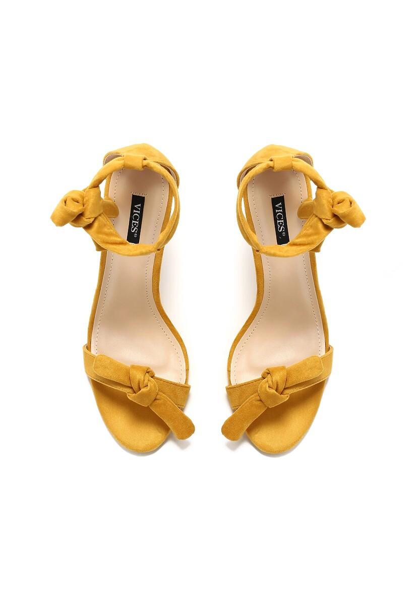 Żółte Sandały Turquoise