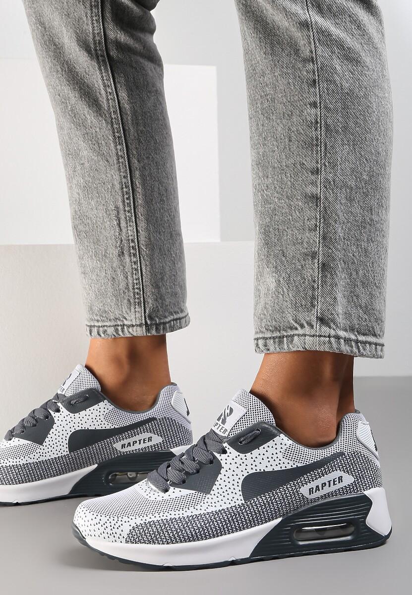 Szare Sneakersy Leucolinai