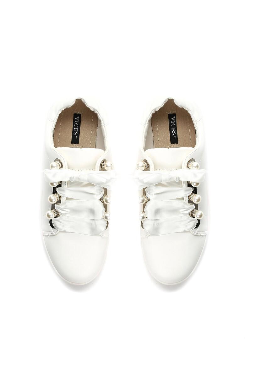 Białe Buty Sportowe Turning Table