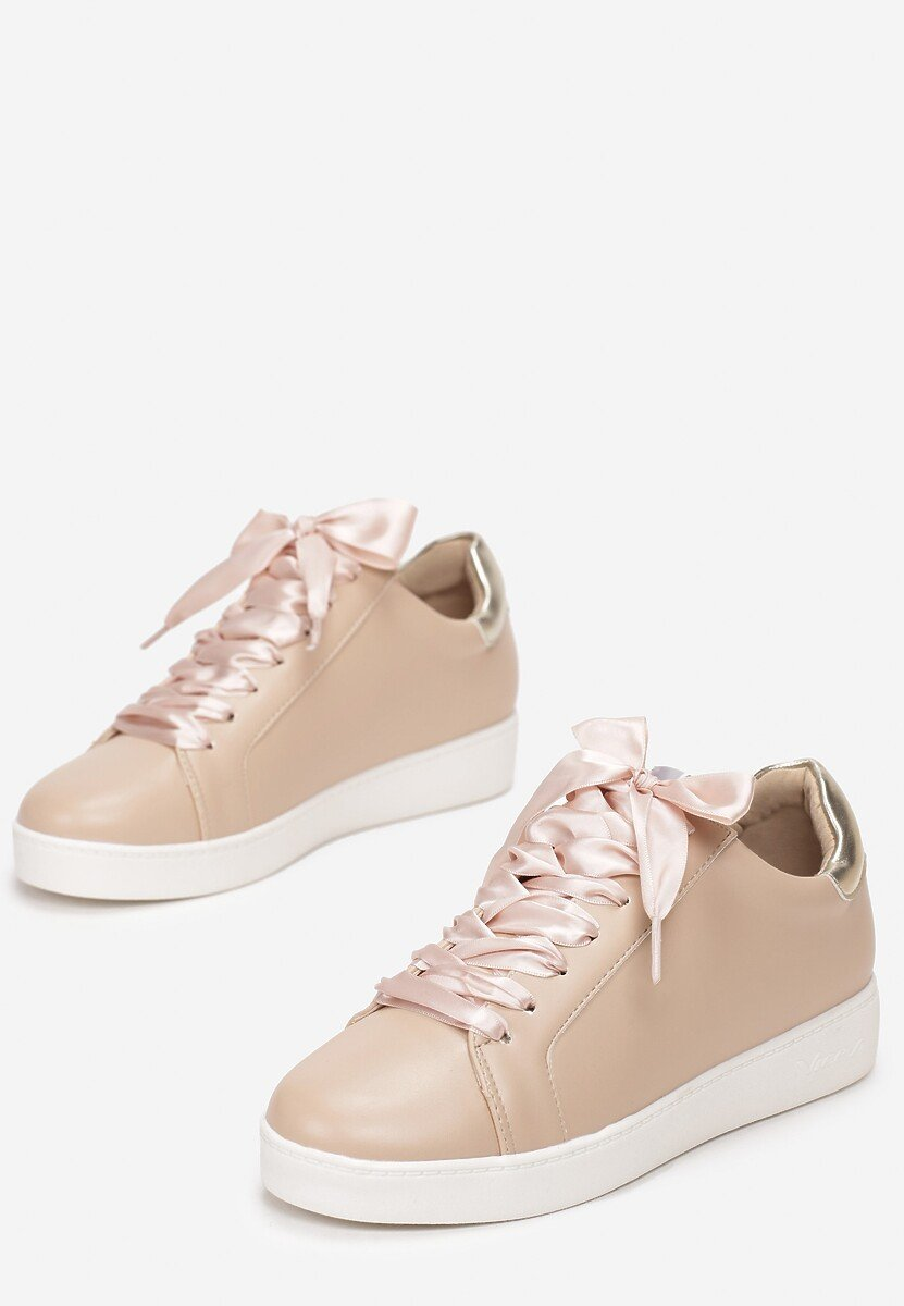 Beżowe Sneakersy Murmurous
