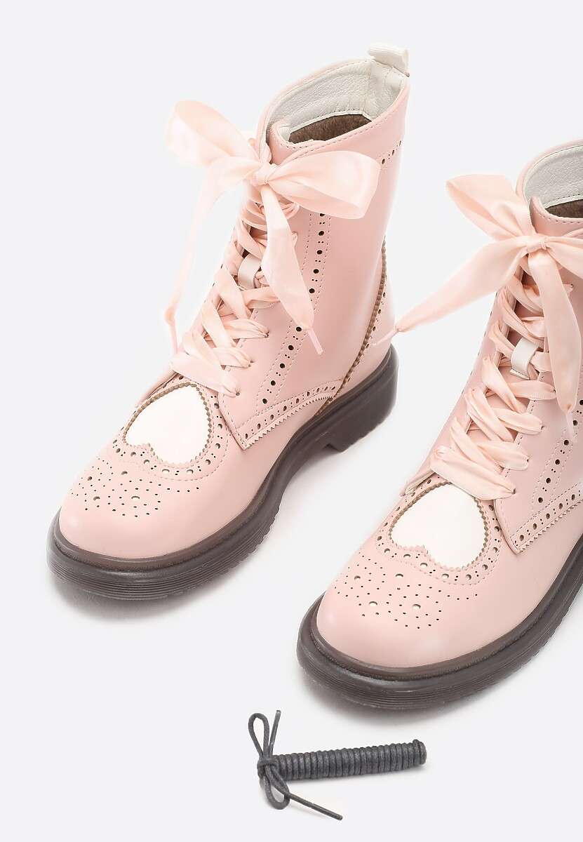 Różowe Botki Top Notch