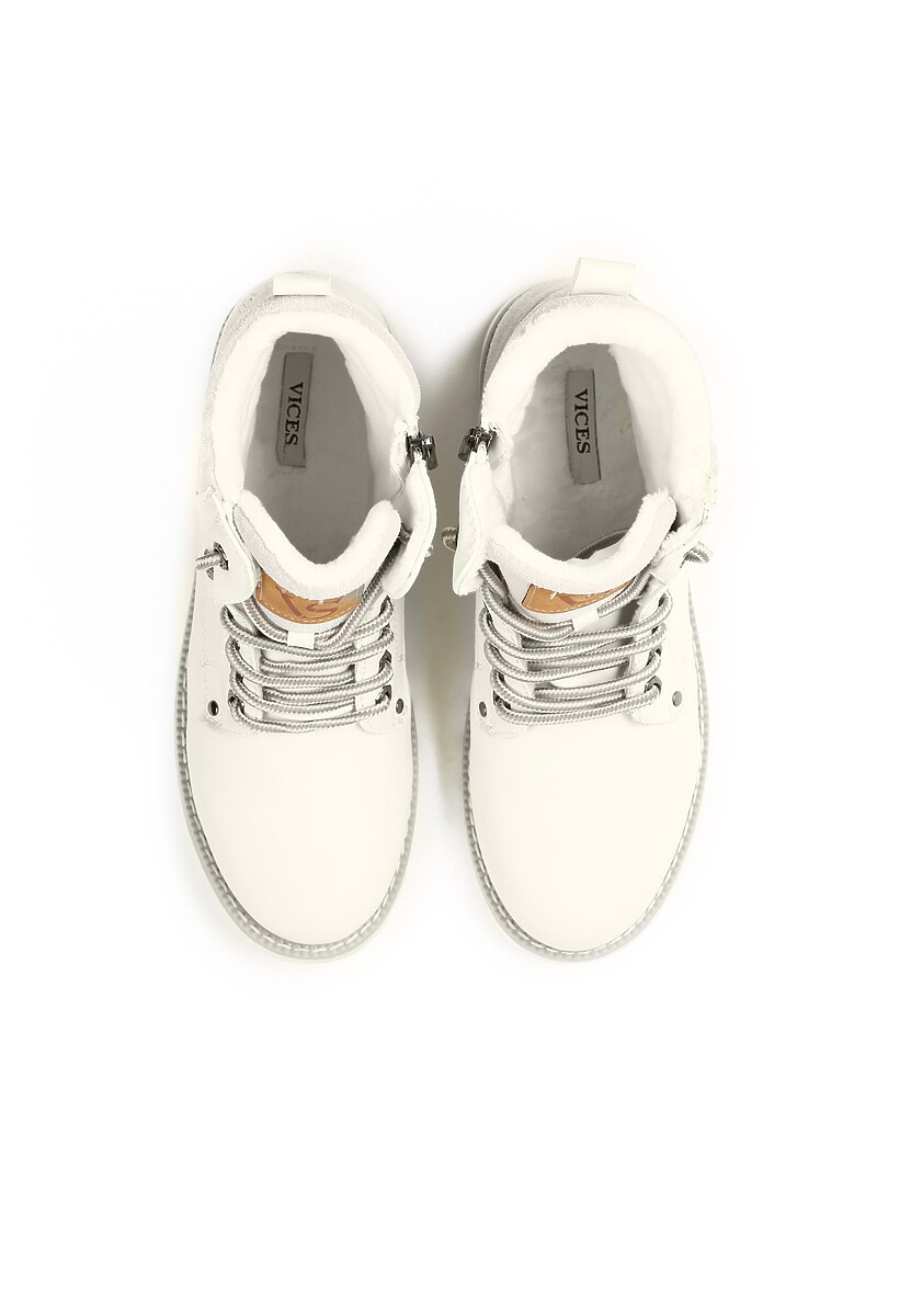 Miętowe Traperki Blue Shoes