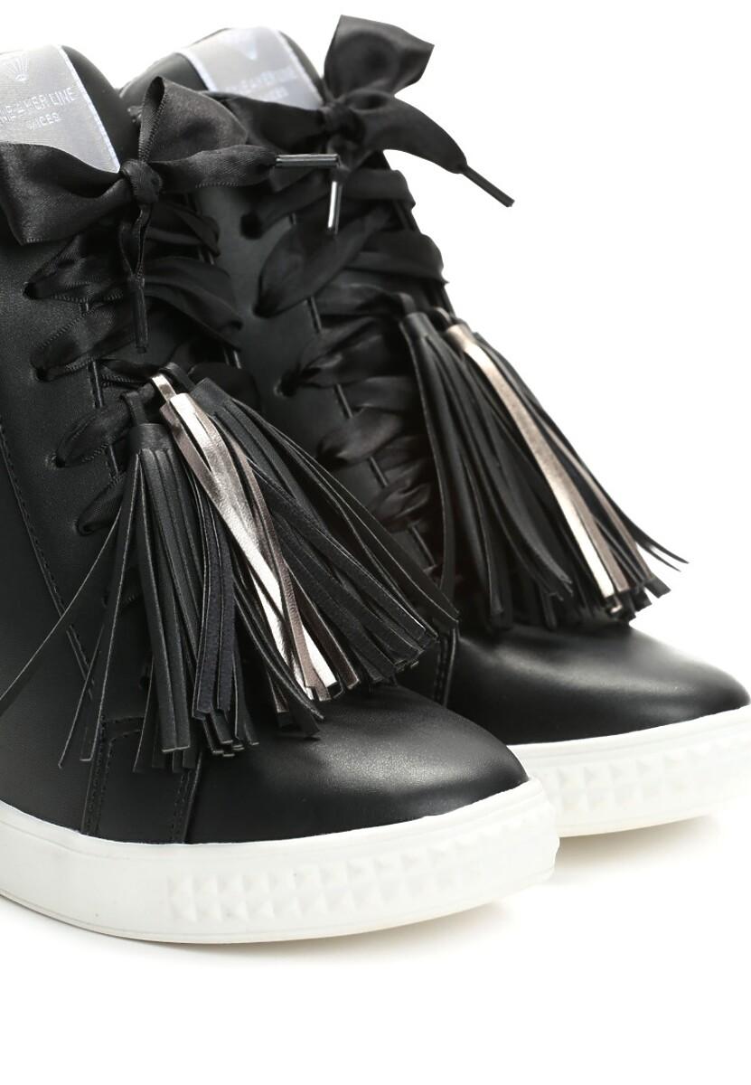 Czarne Sneakersy Glad Moon w Www.renee.pl