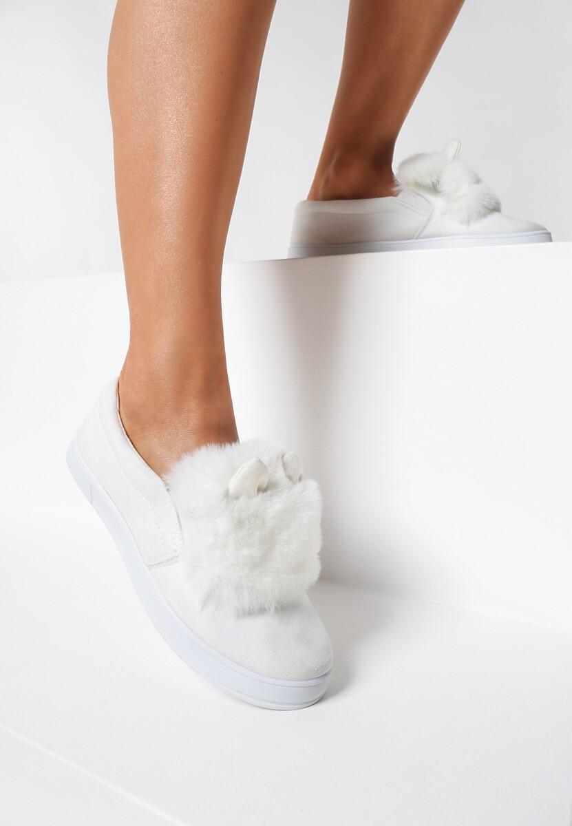Białe Slip On Cooperative Plush