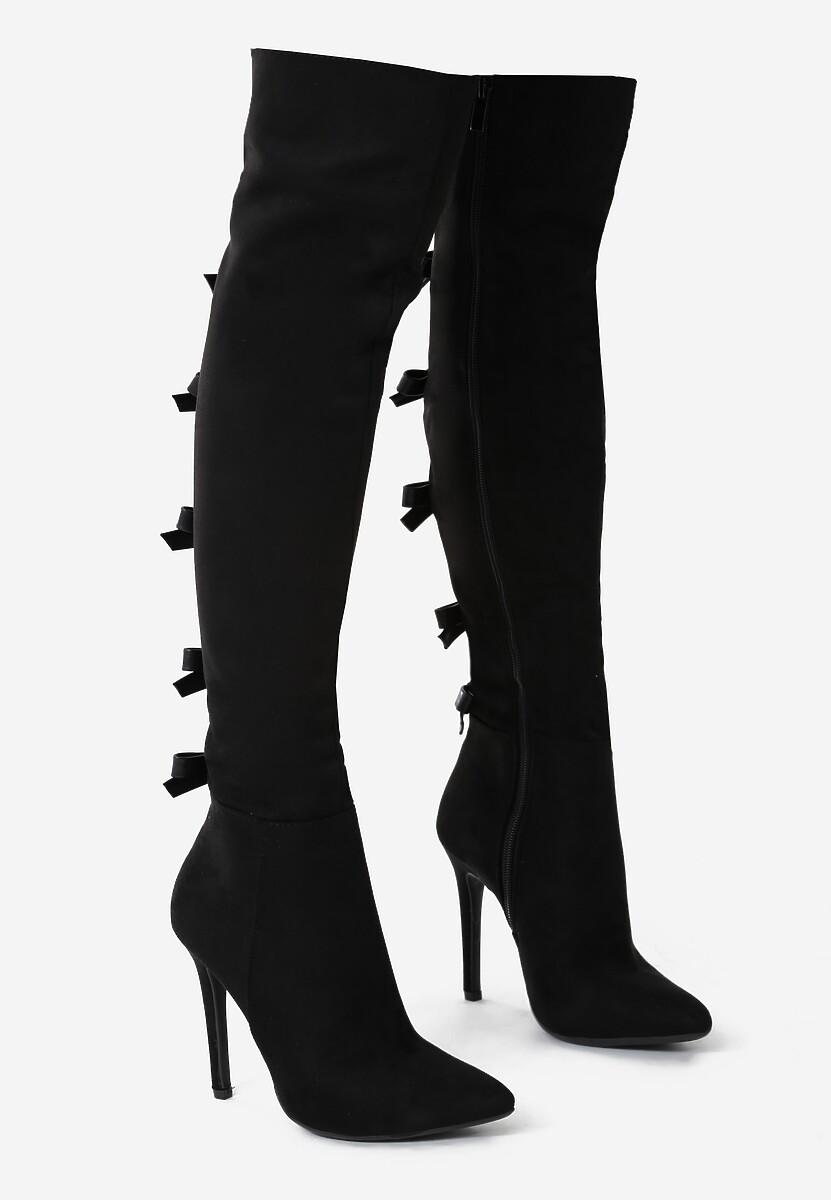 Czarne Kozaki Fashionable Sue