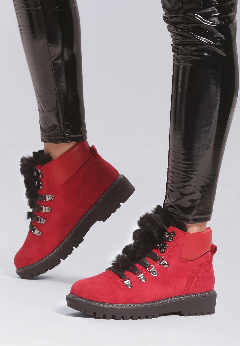 Czerwone Traperki Stand By Designer