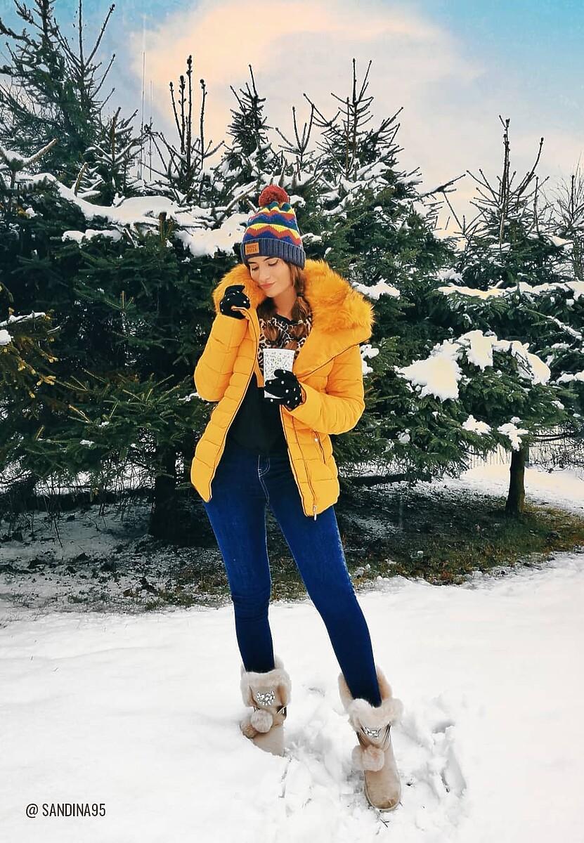 Beżowe Śniegowce Ice Lady