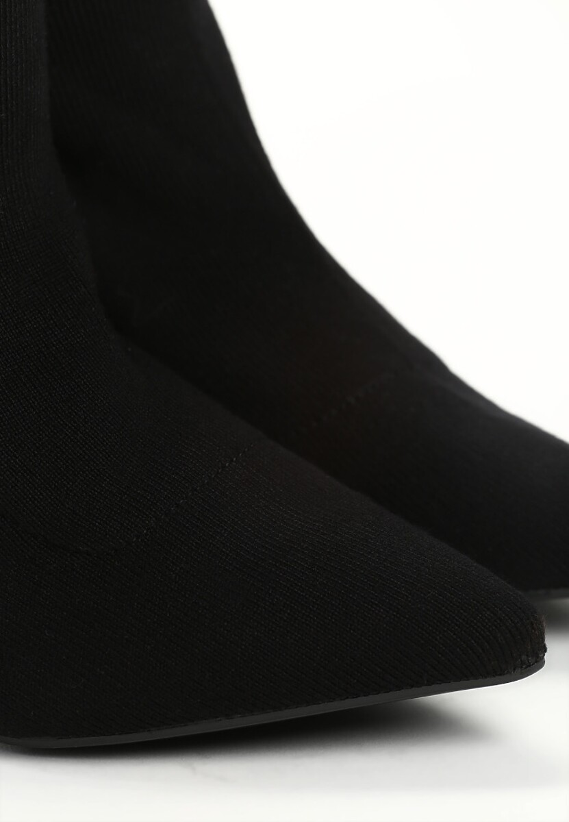 Czarne Botki Blurred Lines