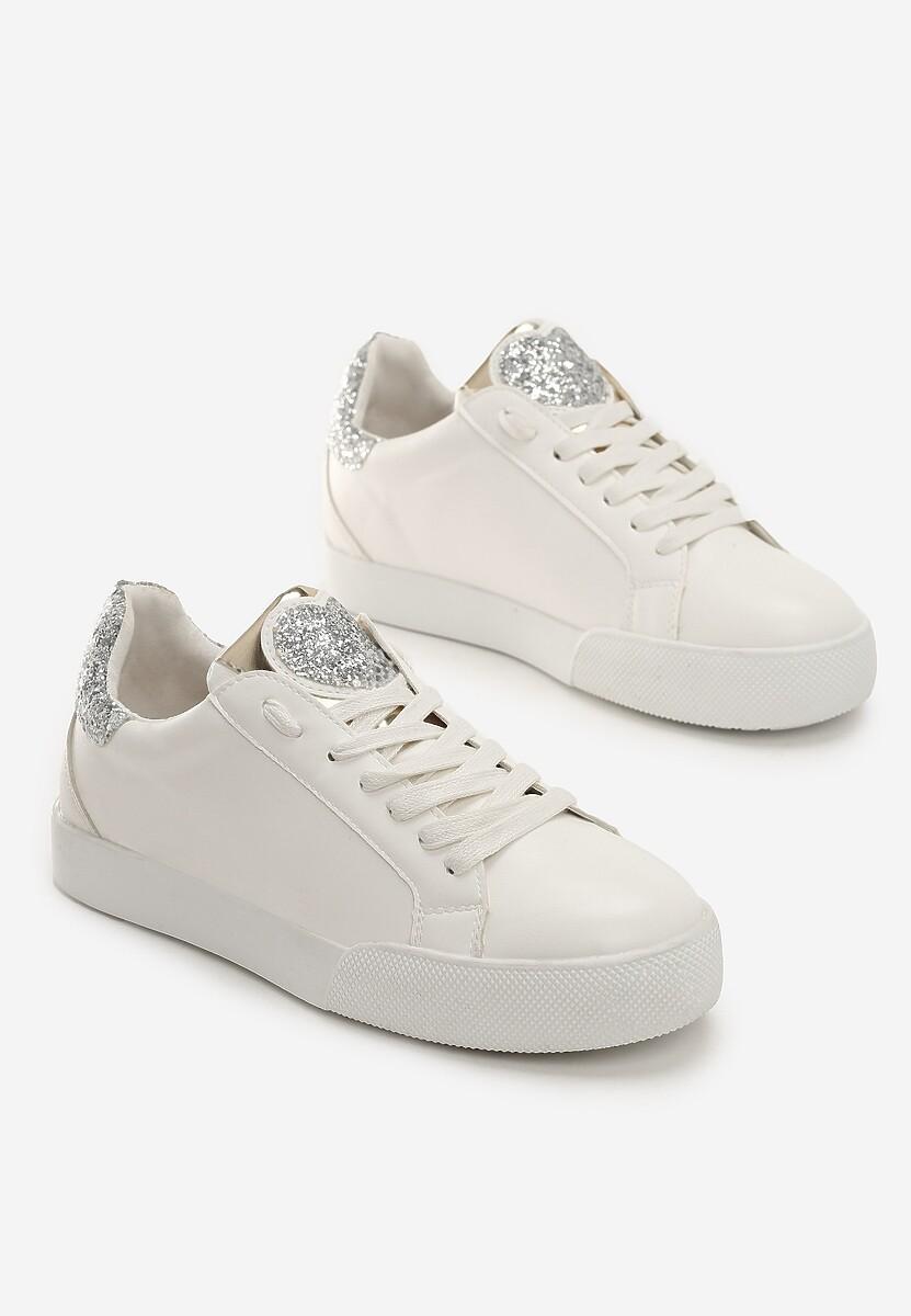 Biało-Srebrne Sneakersy Always True