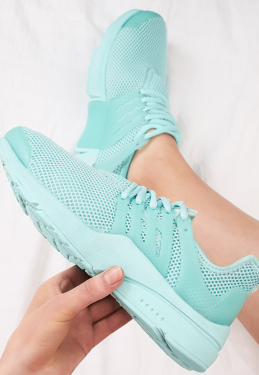 Miętowe Buty Sportowe Wafture