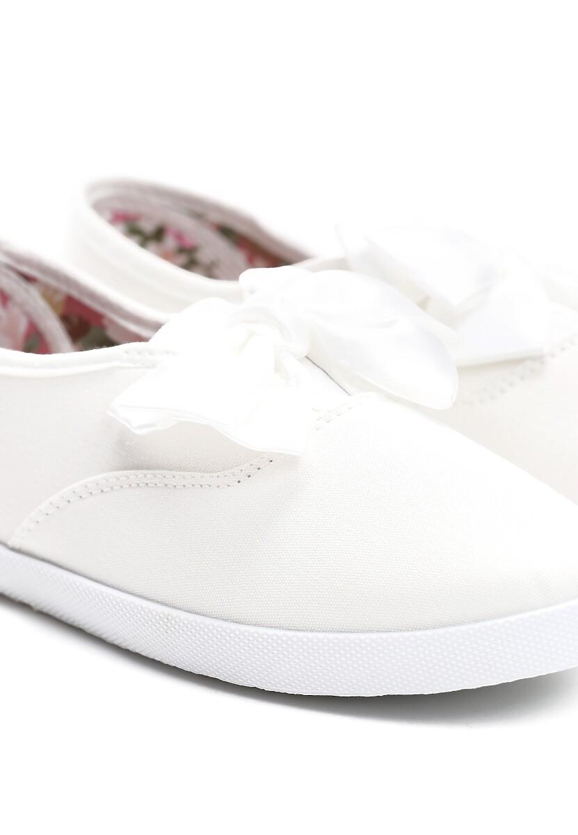 Białe Tenisówki Bright Lilac