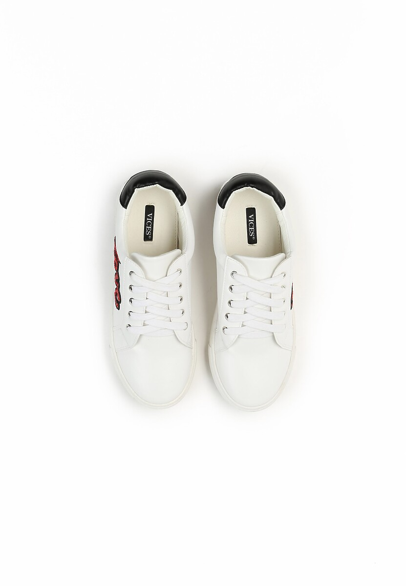Biało-Czerwone Sneakersy Evening Runner