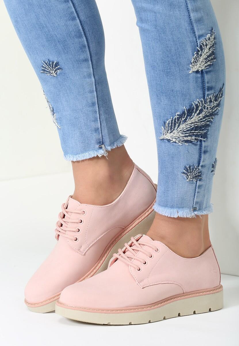 Różowe Półbuty Piece Of Fashion