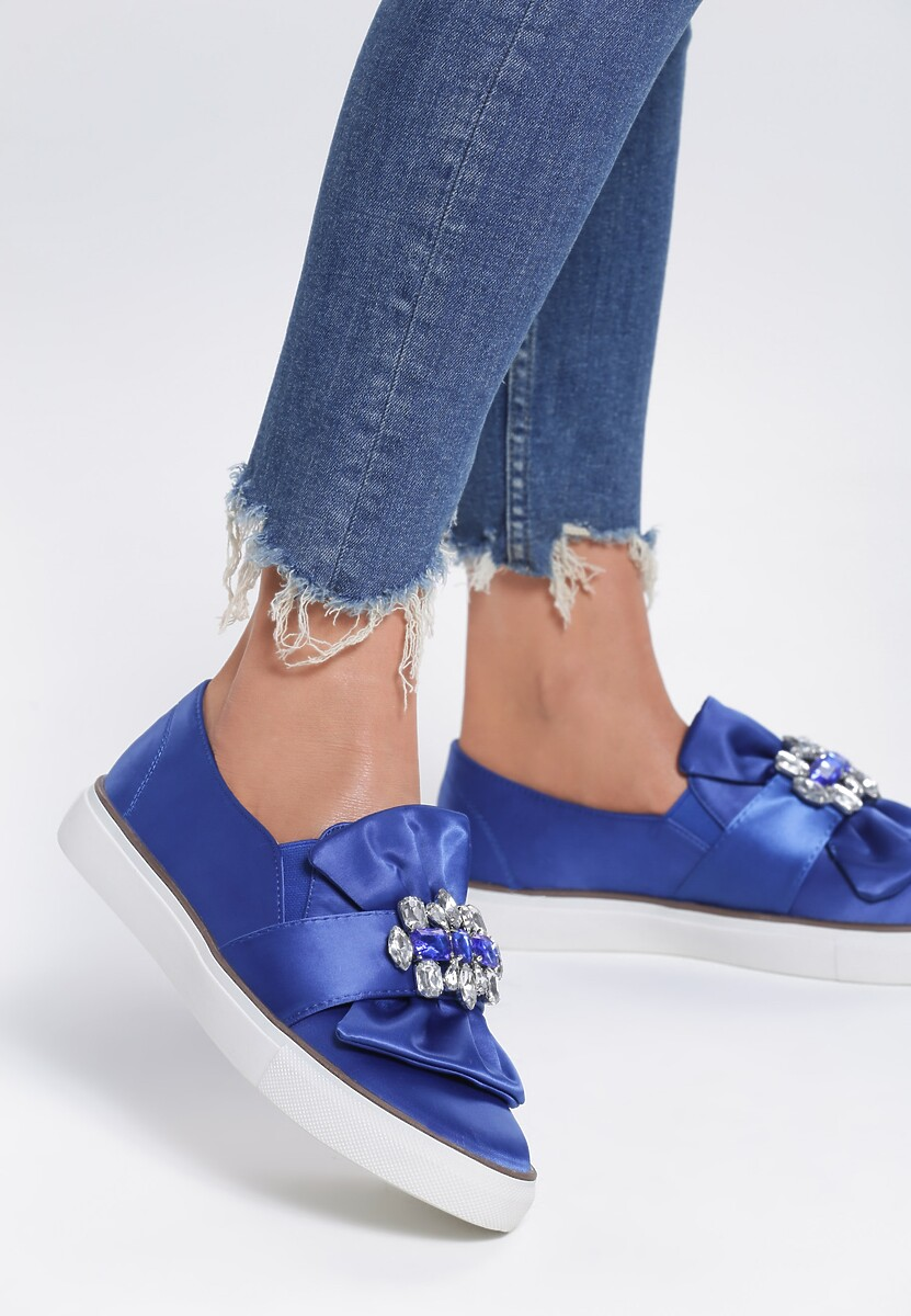 Niebieskie Slip On Hey Girl!
