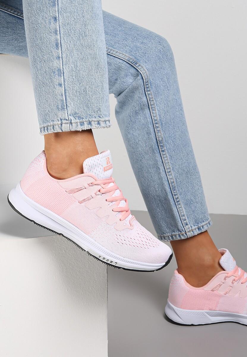 Biało-Różowe Buty Sportowe Hypnotized