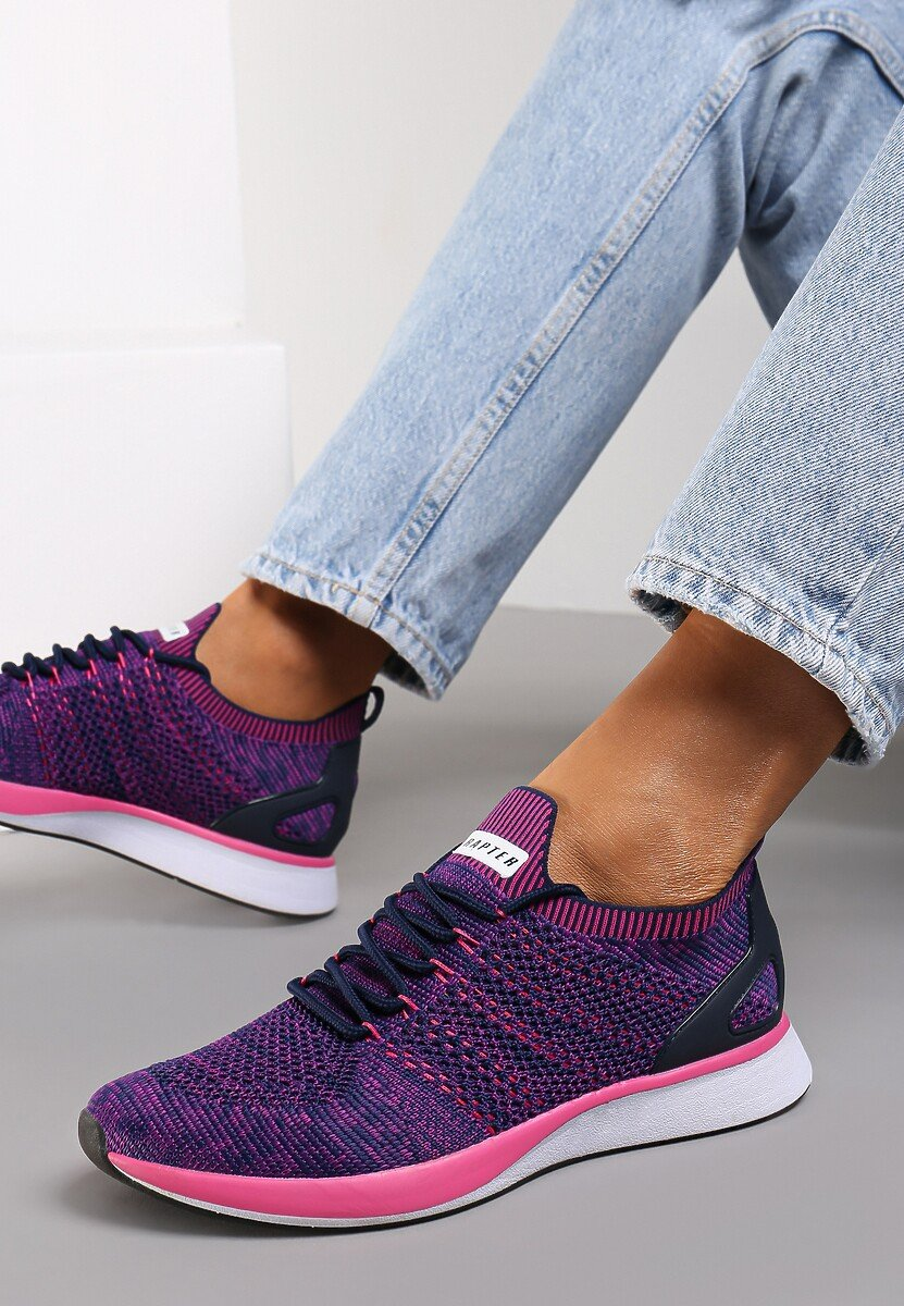 Fioletowo Różowe Buty Sportowe Feelings