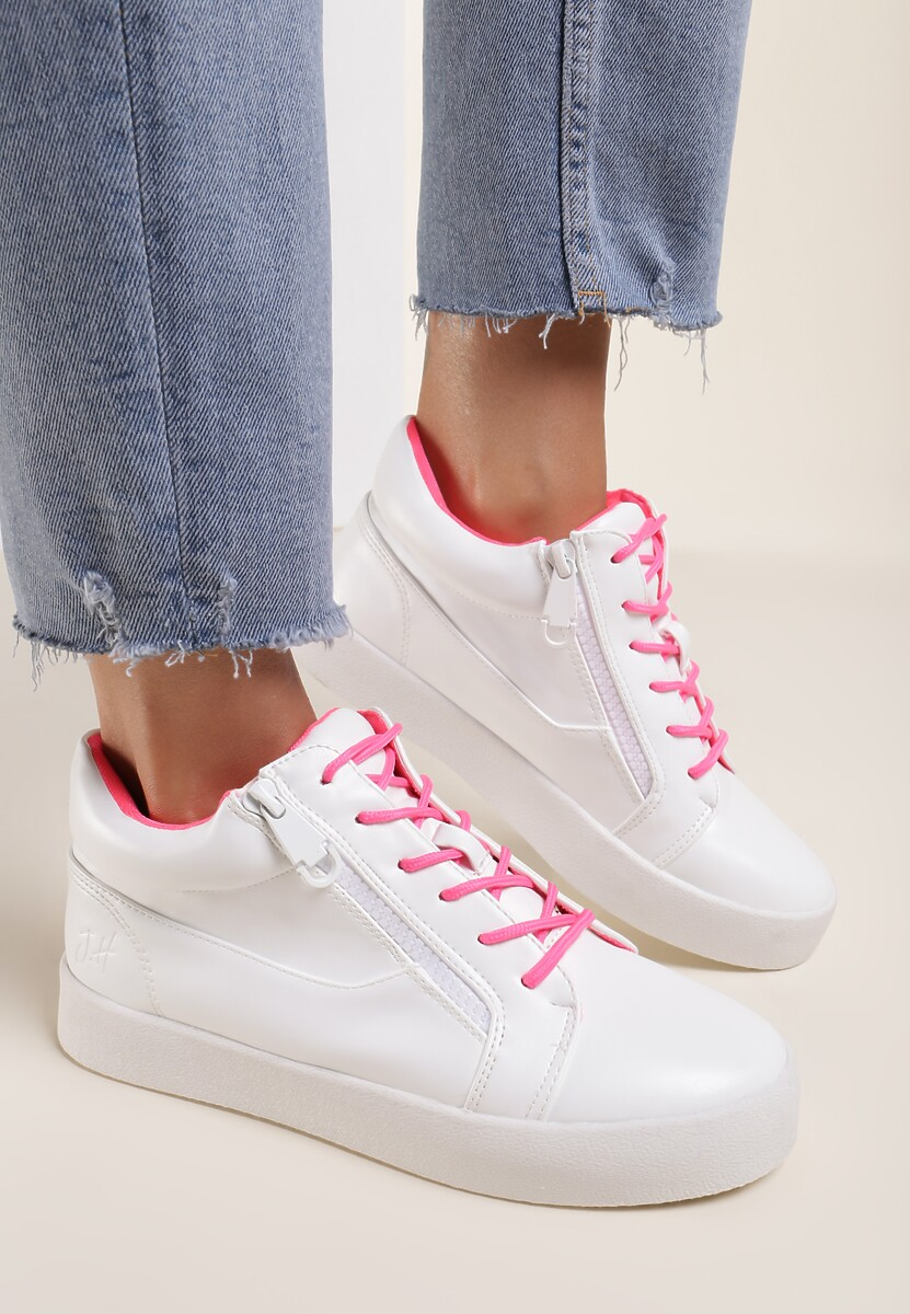Białe Sneakersy Let It Go Kod produktu: 38149