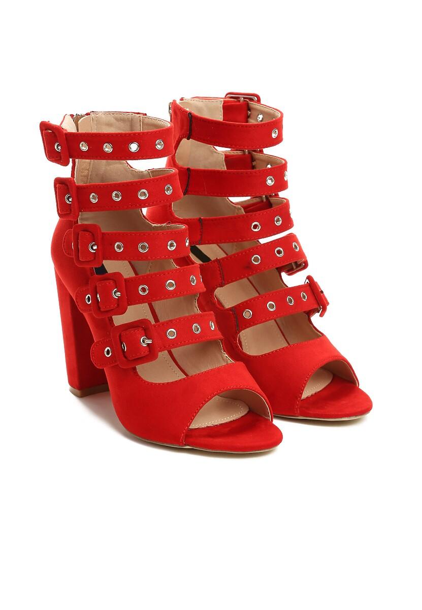 Czerwone Sandały Handyman