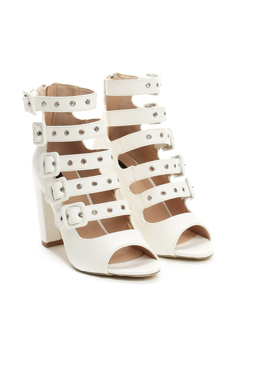 Białe Sandały Handyman