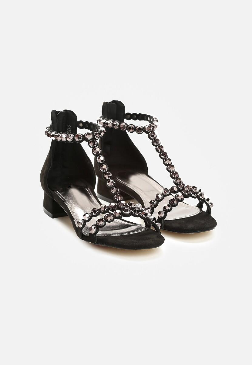 Czarne Sandały Incorruptible
