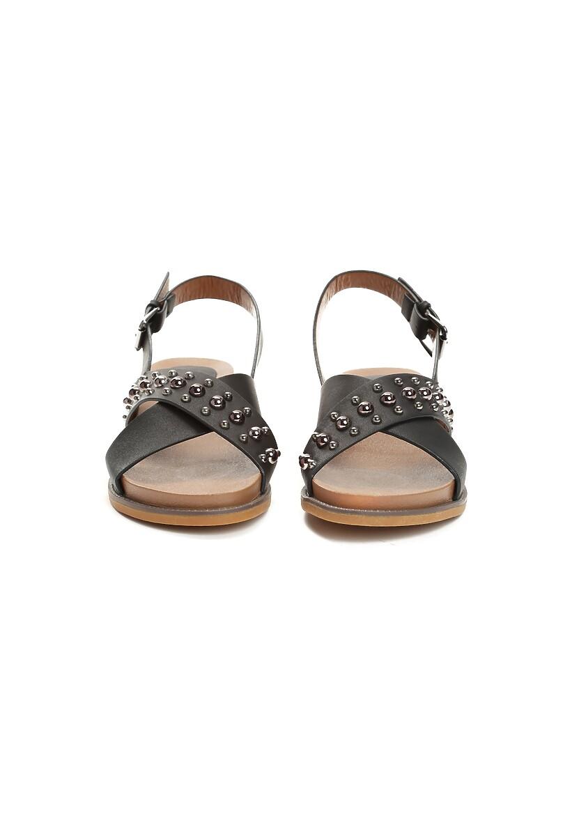 Czarne Sandały Spirits