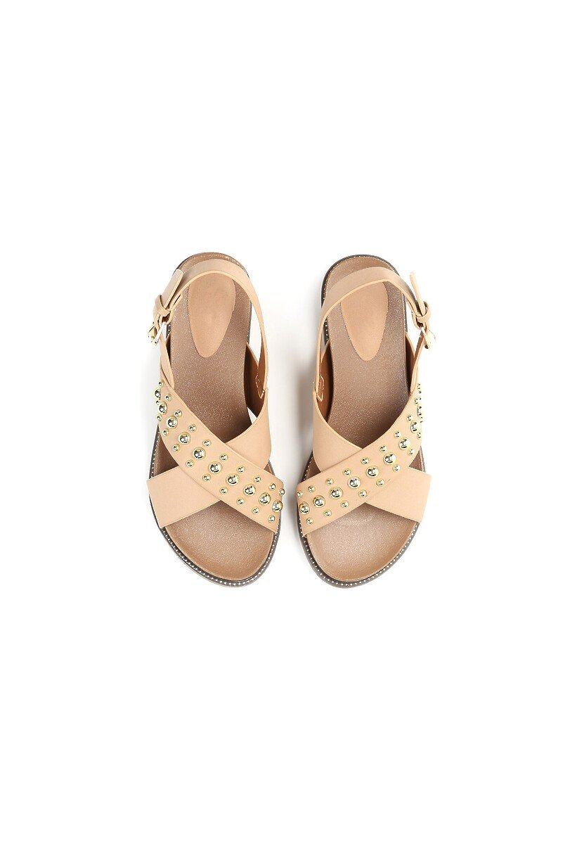 Beżowe Sandały Spirits