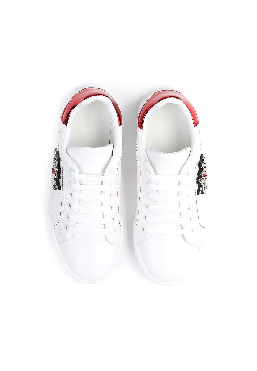 Biało-Czerwone Sneakersy Citrine