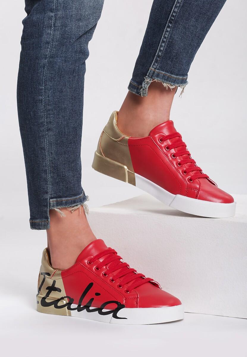 Biało Złote Sneakersy Hashtag