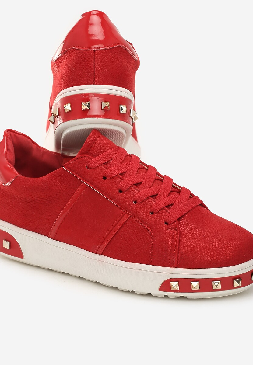 Czerwone Sneakersy Amor De Mi Vida