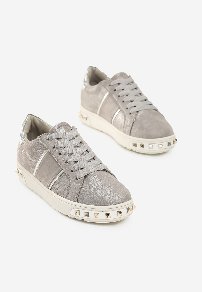 Szare Sneakersy Amor De Mi Vida