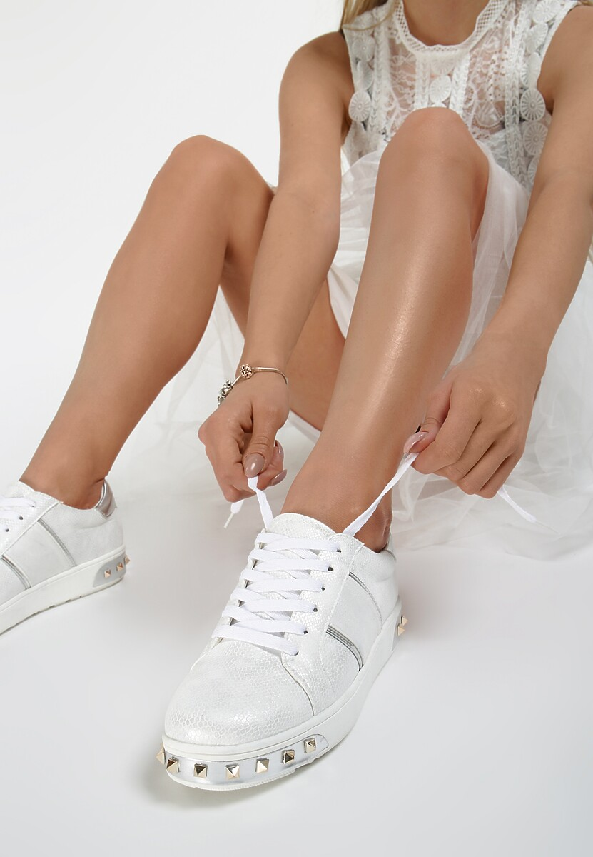 Białe Sneakersy Amor De Mi Vida