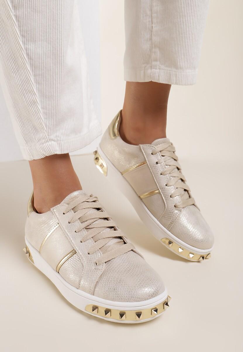 Złote Sneakersy Amor De Mi Vida