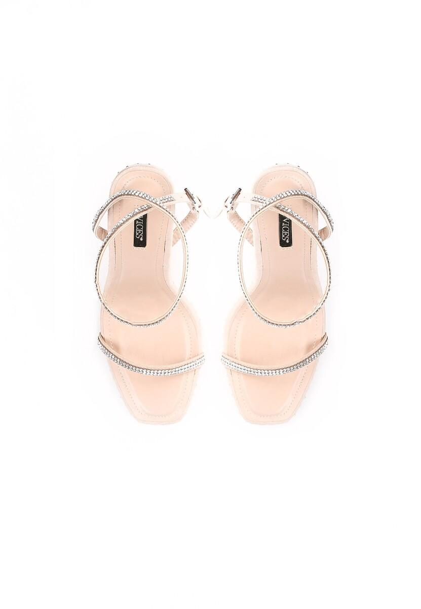 Beżowe Sandały Famous