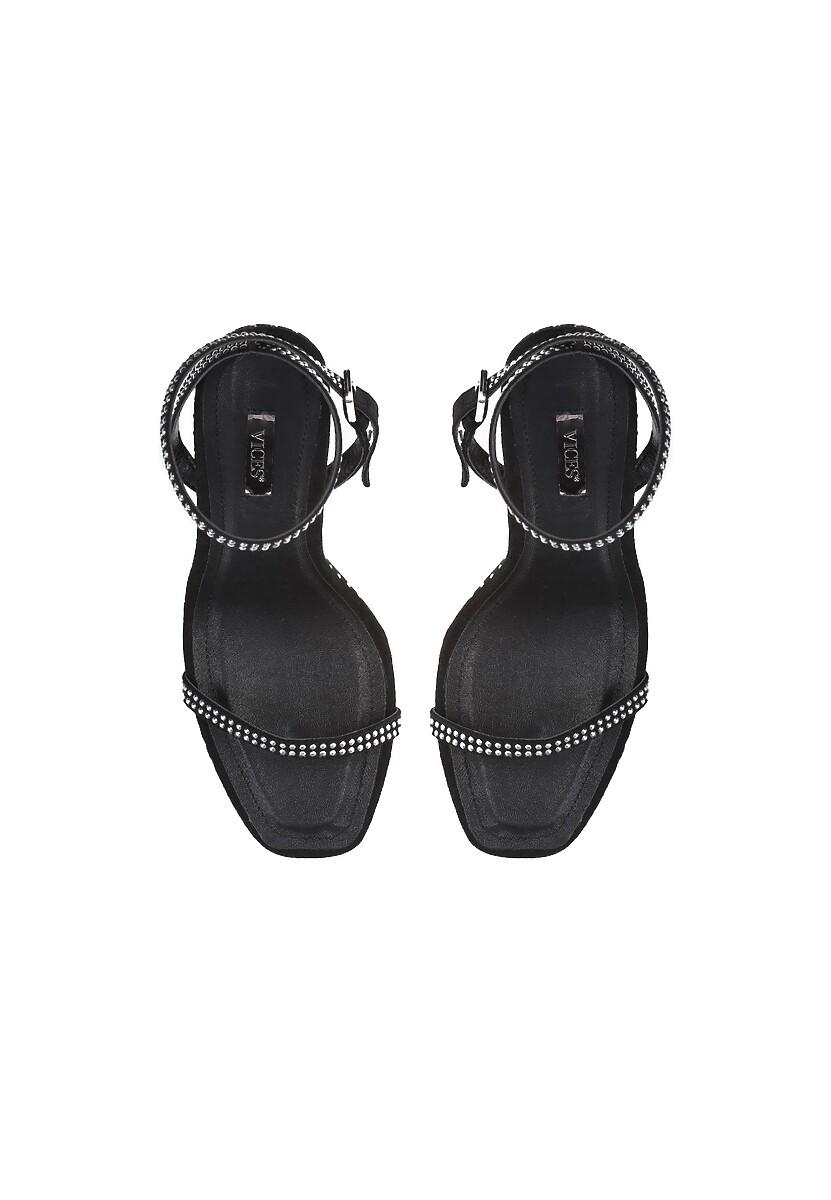 Czarne Sandały Famous