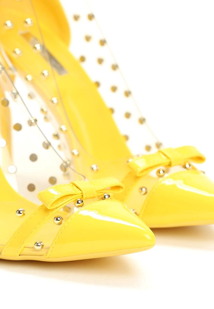 Żółte Transparentne Szpilki Paws
