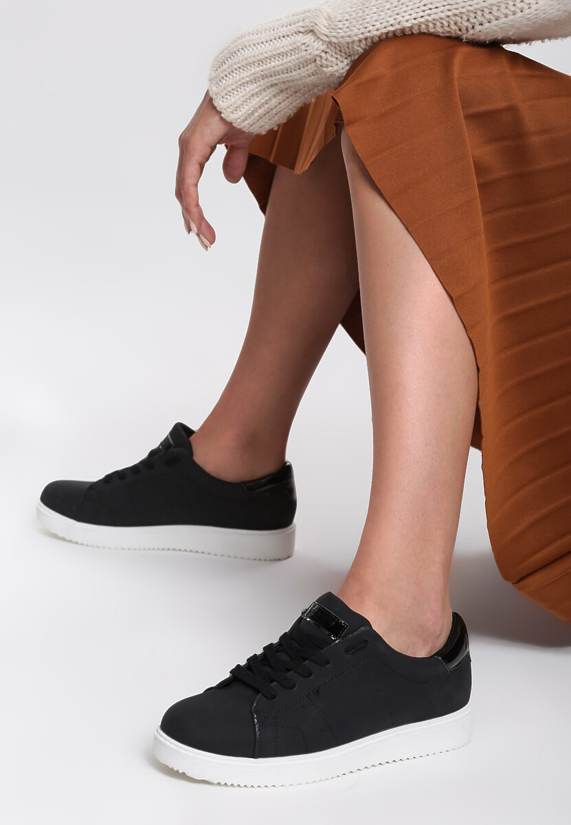 Czarne Buty Sportowe Elastic Hands