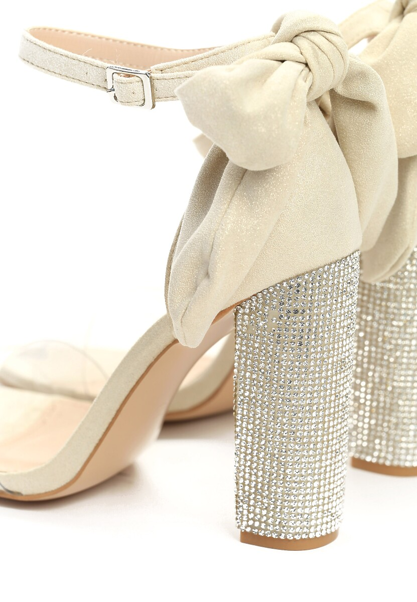 Beżowe Sandały Star Light
