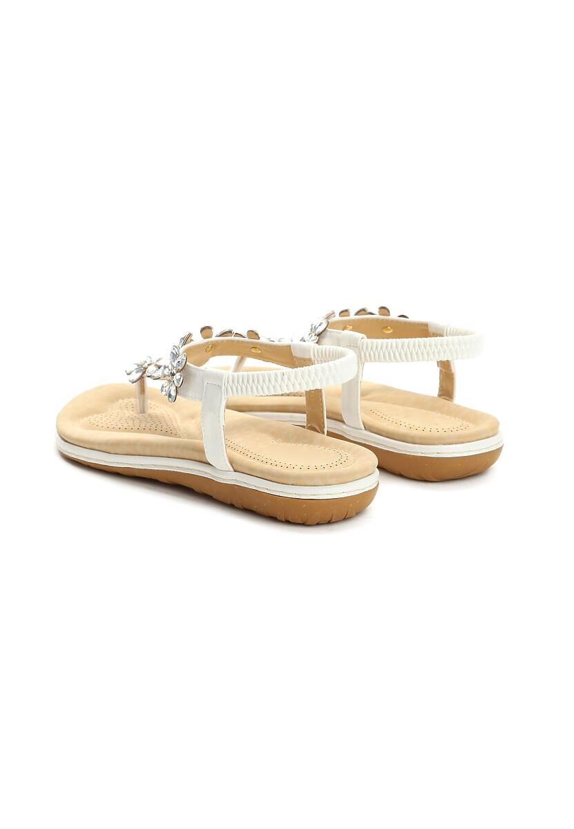 Białe Sandały Poinsettia