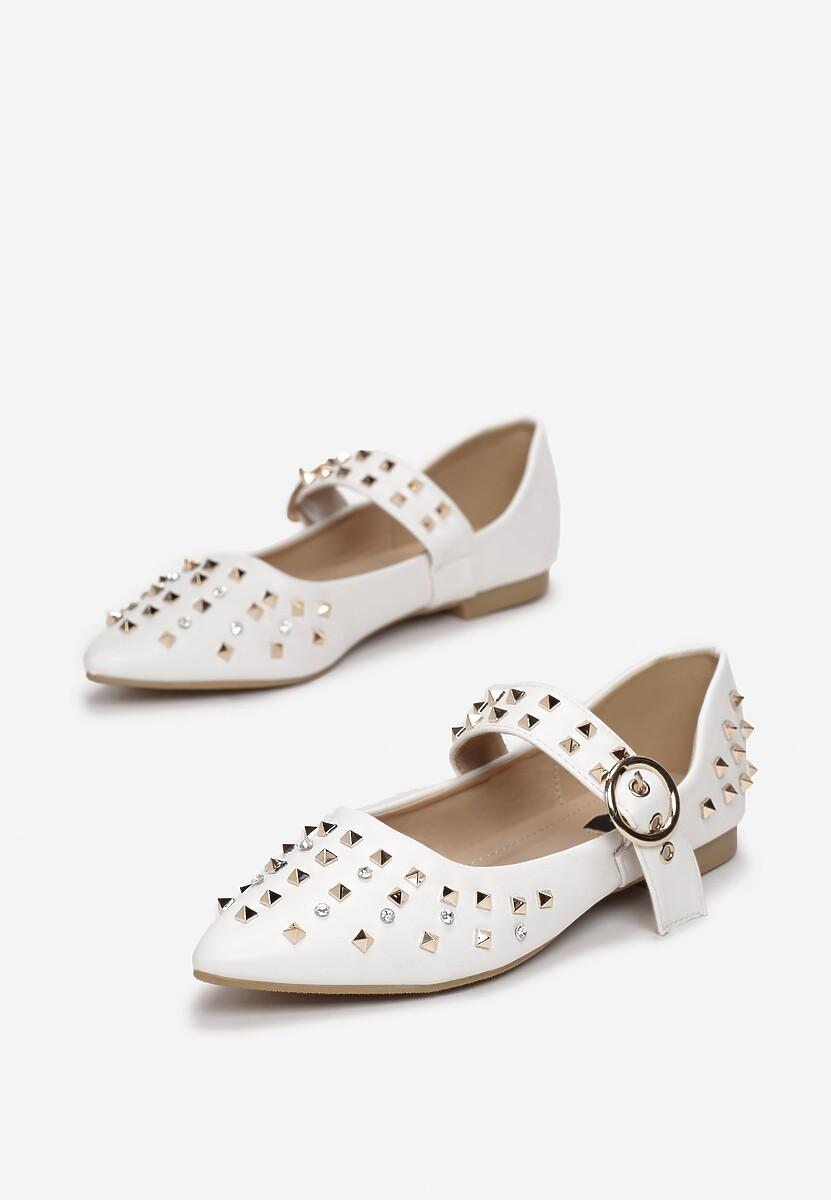 Białe Balerinki Like A Star