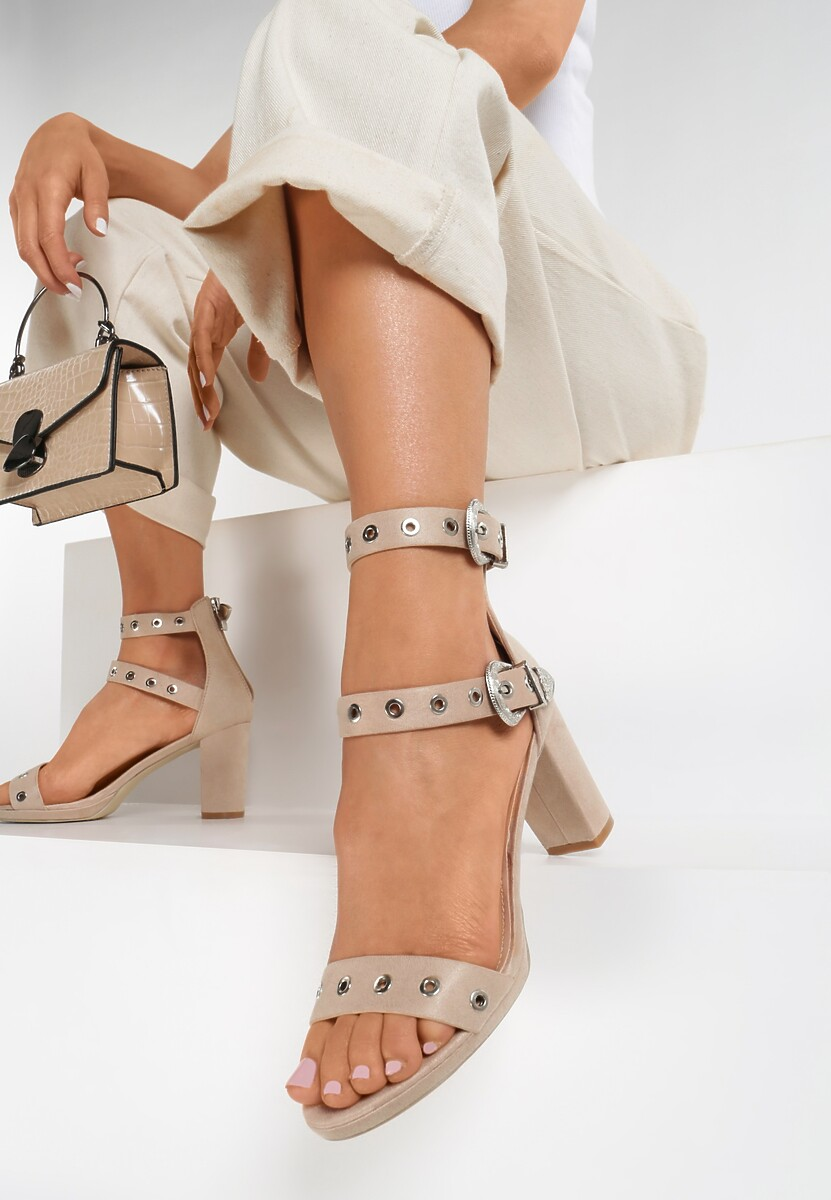Beżowe Sandały Arlo