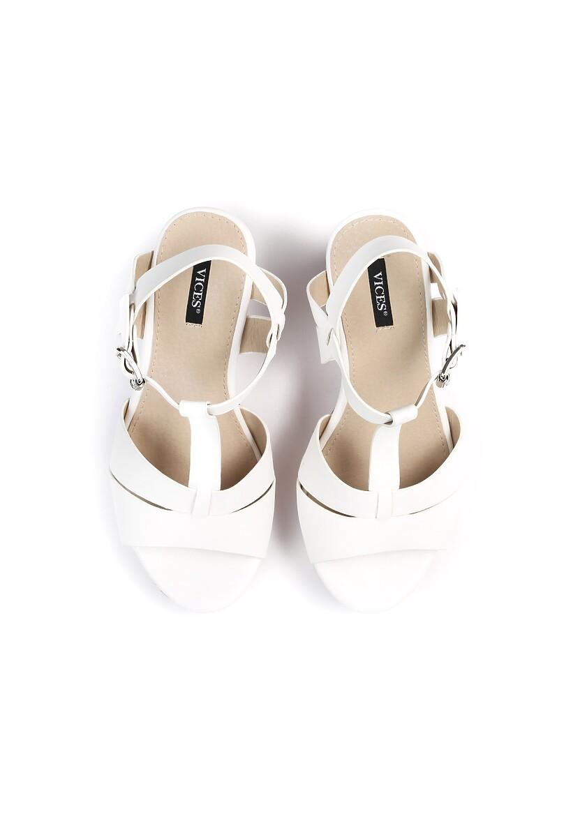 Biało-Beżowe Sandały Trust Me Baby