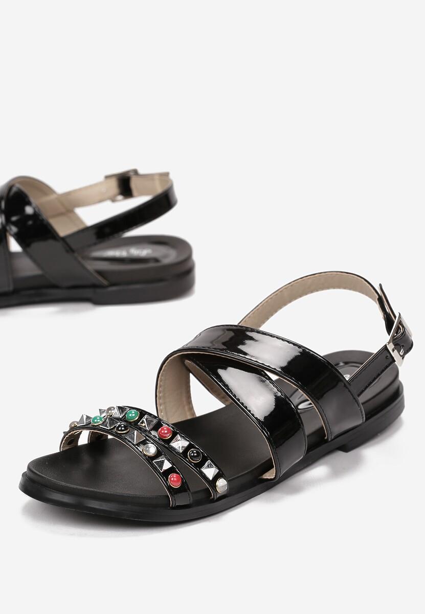 Czarne Sandały Evergreen