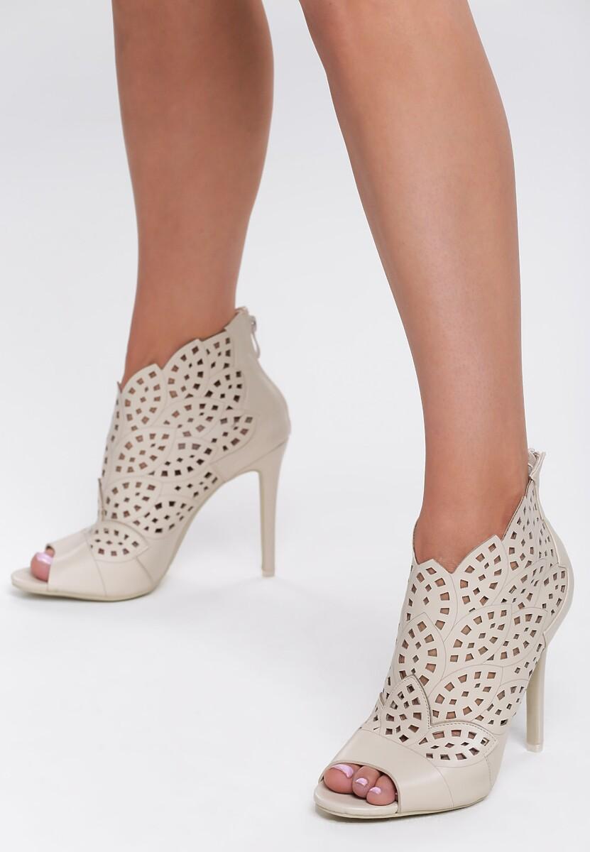 Beżowe Sandały You Look