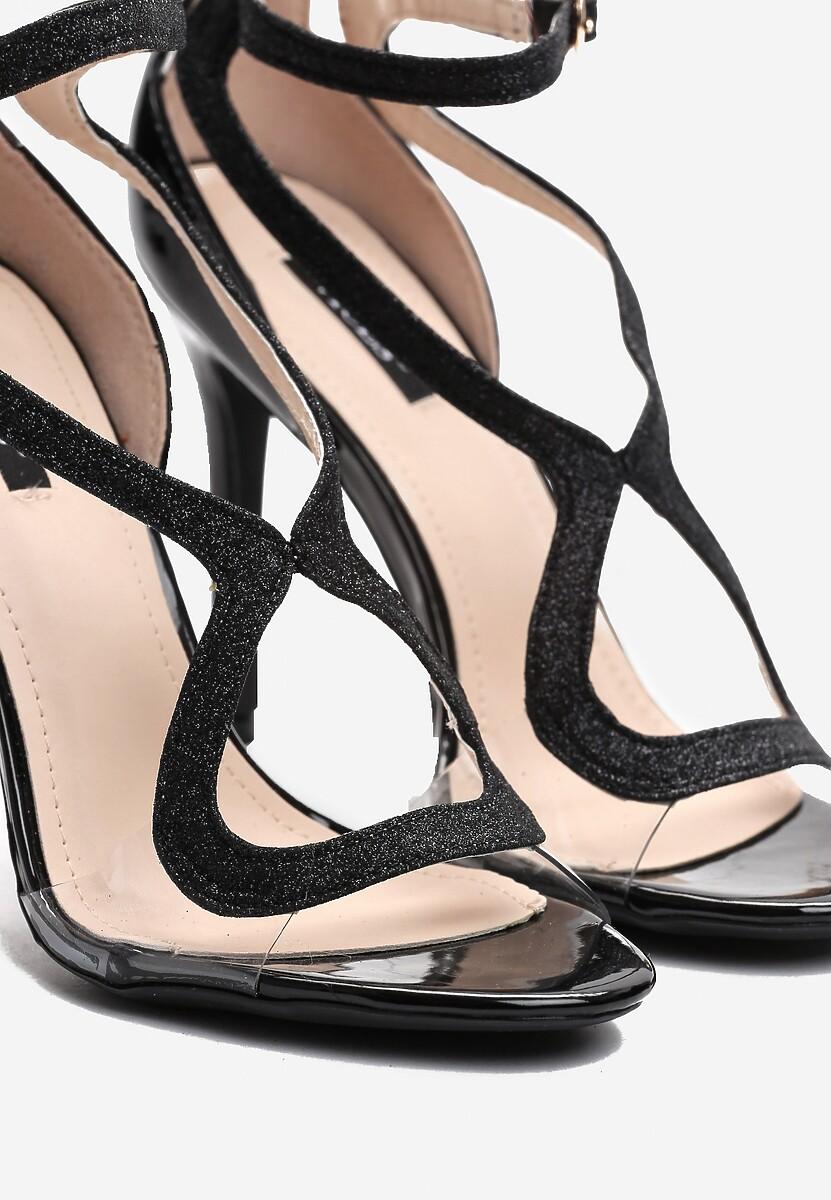 Czarne Sandały Kamikaze