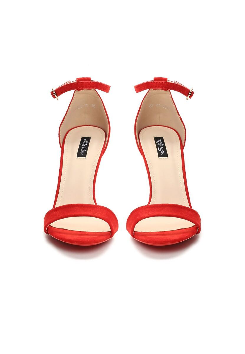 Czerwone Sandały Kiss Goodbye
