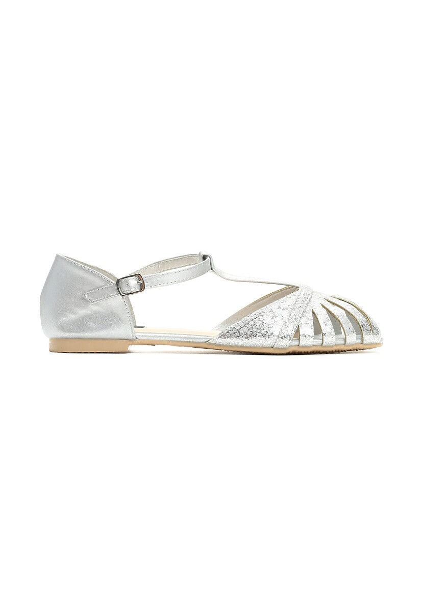 Srebrne Sandały Delighting Glow