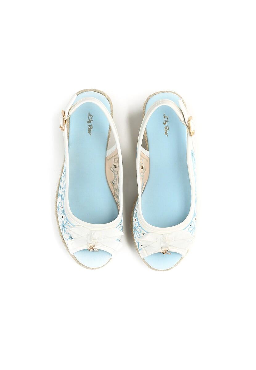 Biało-Niebieskie Koturny Unchain