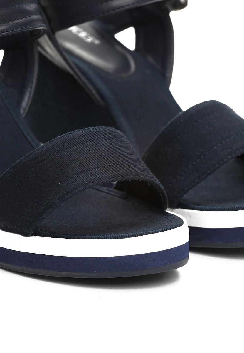 Granatowe Sandały One Thing