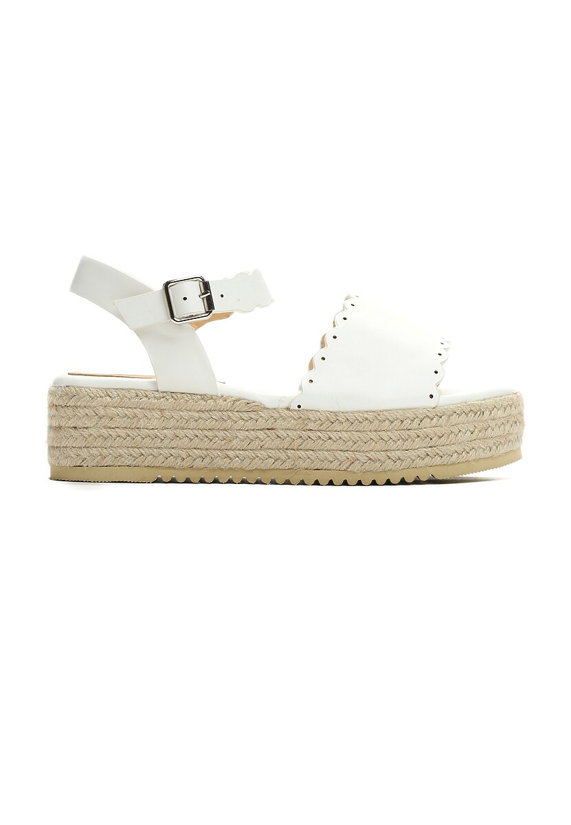 Białe Sandały Toxic