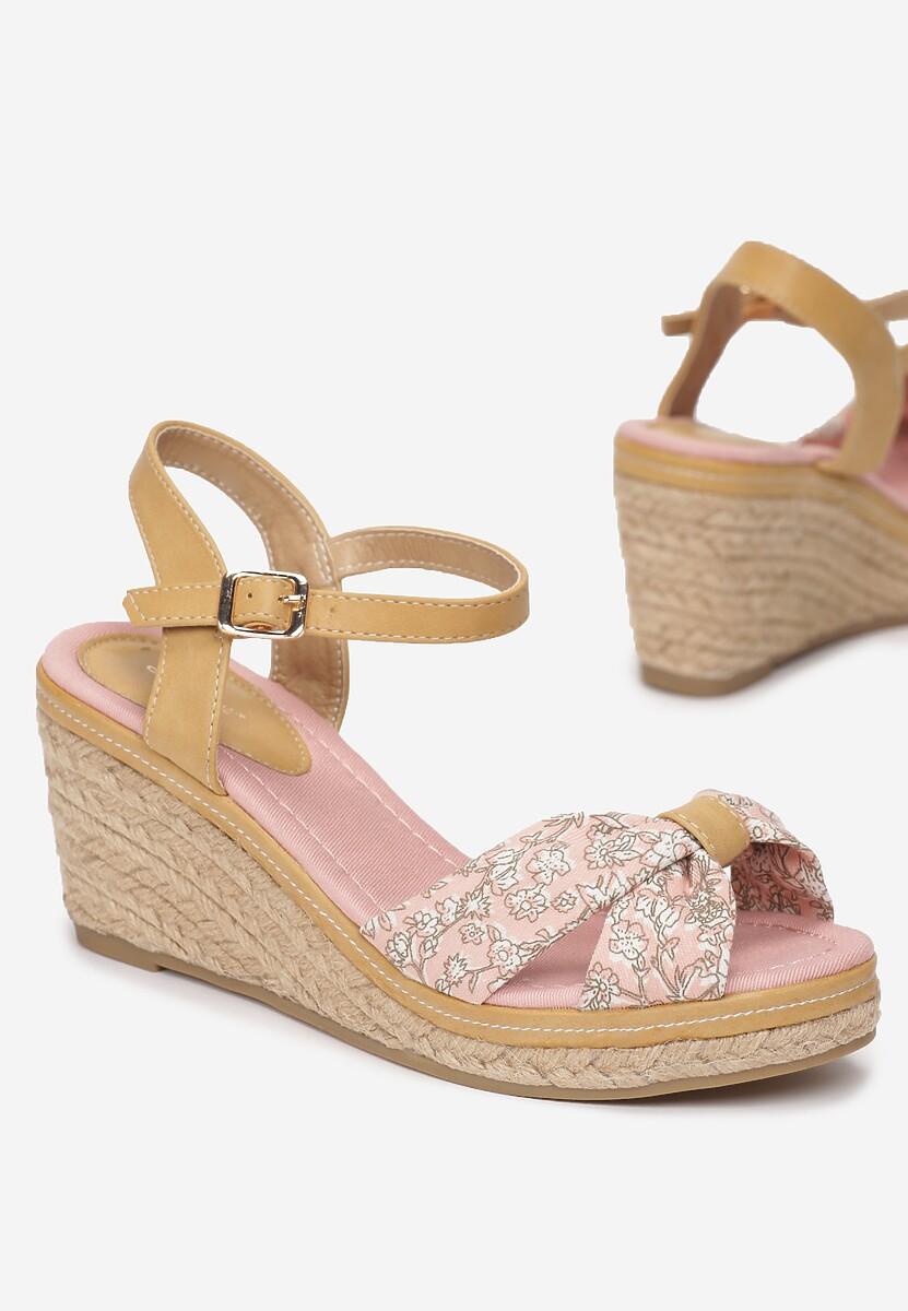 Różowe Sandały Vibrant Green